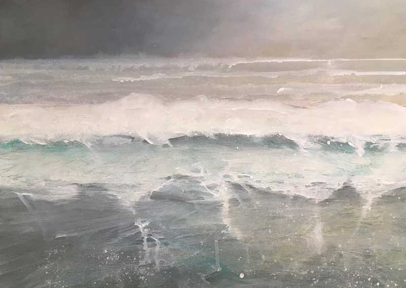 oil painting of the sea