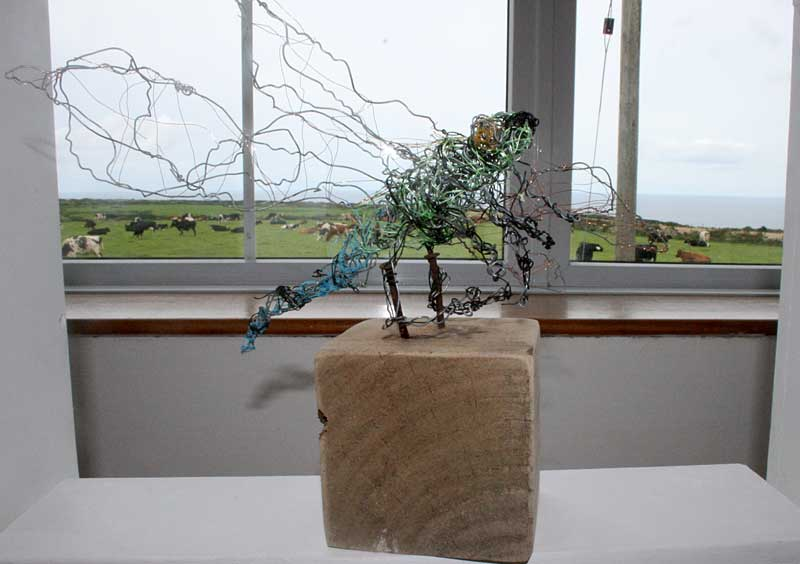 Wire scultpure of insect